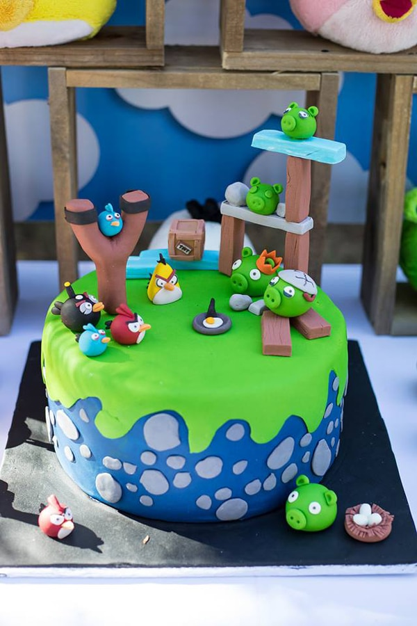 Angry Birds Birthday Cake - Birthday Cakes For Boys on Pretty My Party