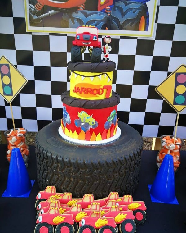 Blaze and the Monster Machine Birthday Cake - Birthday Cakes For Boys on Pretty My Party