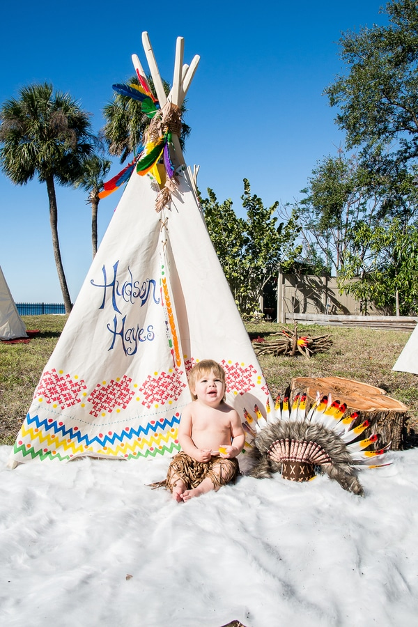 Boys 1st birthday ideas - Teepee Indian Themed Party