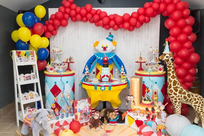 Boys First Birthday Ideas Circus