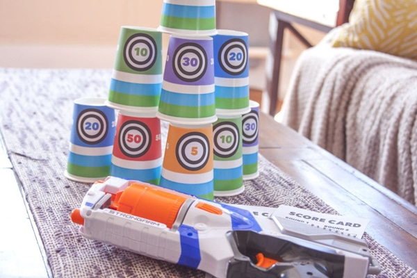 DIY Nerf Party Game - Nerf Party Ideas