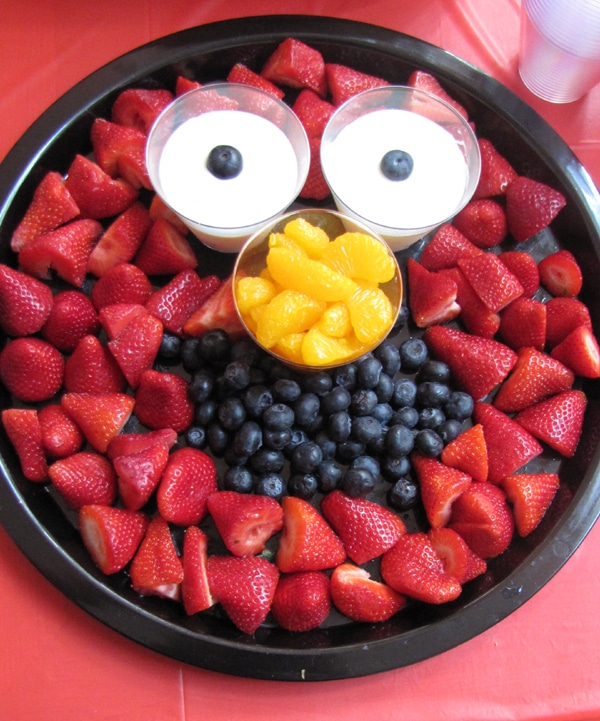 Elmo Fruit Platter - Elmo Party Ideas