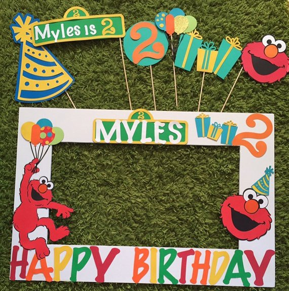 Elmo Photo Booth Props - Elmo Party Ideas