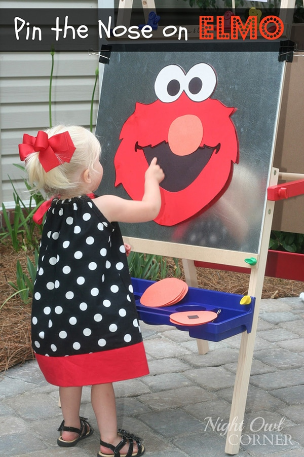 Pin the Nose on Elmo Party Game - Elmo Party Ideas