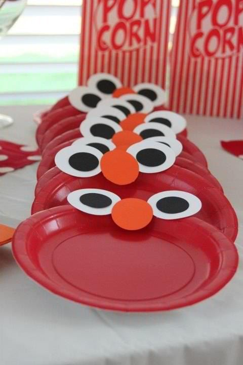 Elmo Plates - Elmo Party Ideas