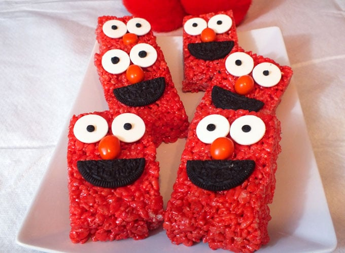 Elmo Rice Krispie Treats - Elmo Birthday Party Ideas