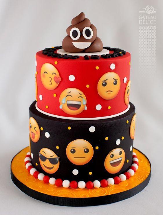 Emoji Cake Ideas 9 How Cool Is This Red And Black Birthday If Youre Looking For Some Great An But Dont Like Yellow