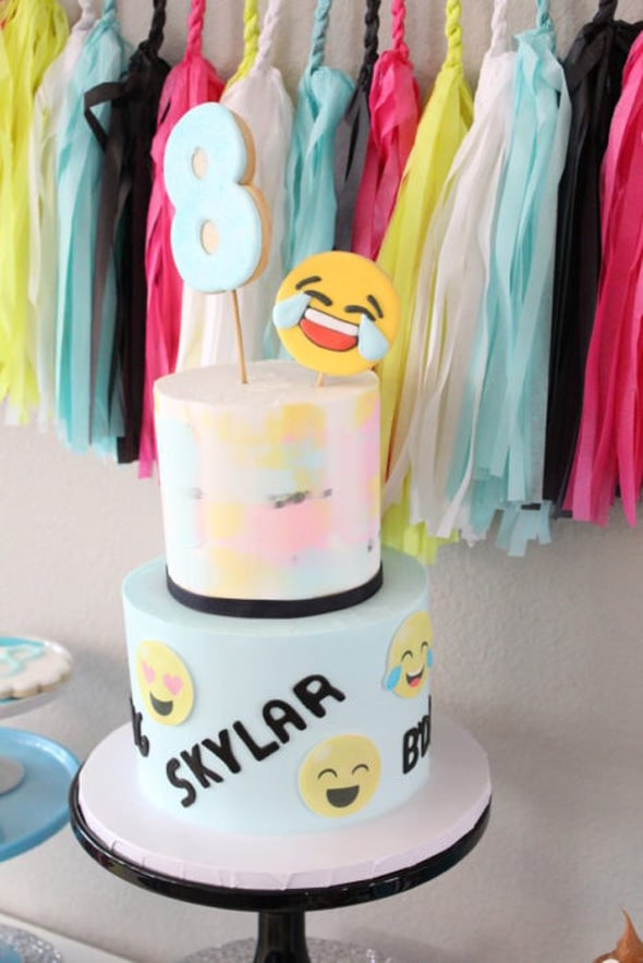 Terrific 16 Awesome Emoji Cake Ideas Pretty My Party Party Ideas Funny Birthday Cards Online Overcheapnameinfo