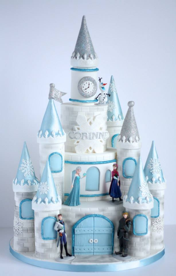 Frozen Castle Cake - Awesome Birthday Cakes For Girls on Pretty My Party