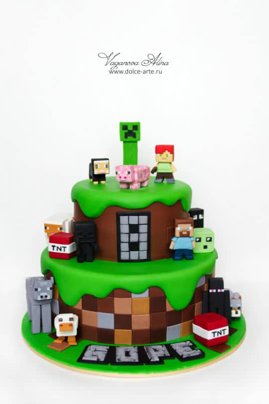 11 Amazing Minecraft Birthday Cakes Pretty My Party Party Ideas