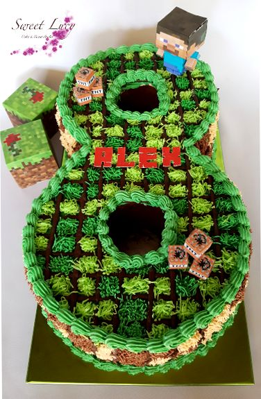 11 Amazing Minecraft Birthday Cakes Pretty My Party