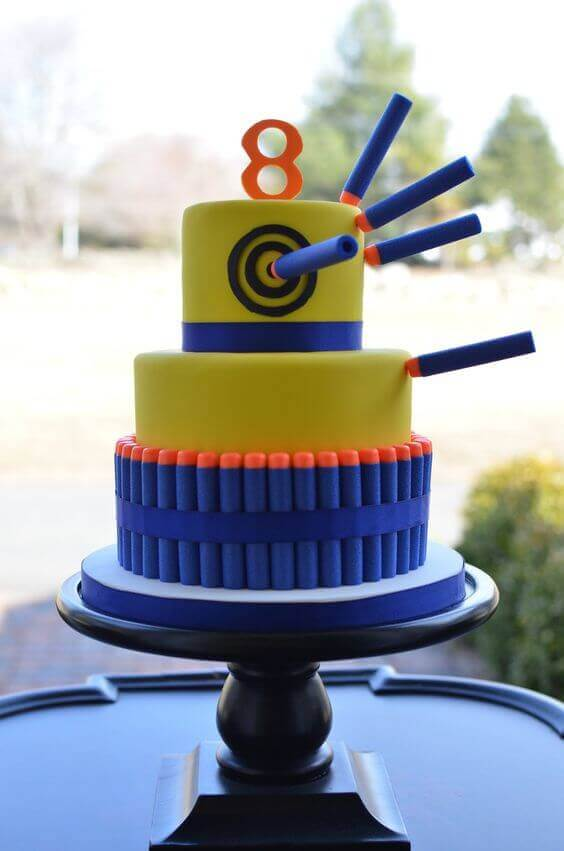 Nerf Cake - Nerf Party Ideas