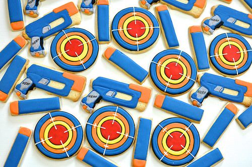 Nerf Gun Cookies - Nerf Party Ideas
