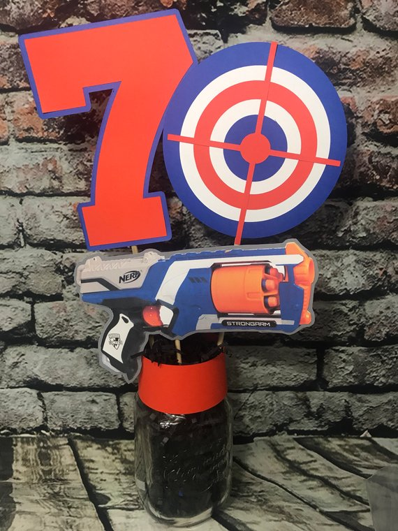 Nerf Party Table Centerpiece - Nerf Party Ideas