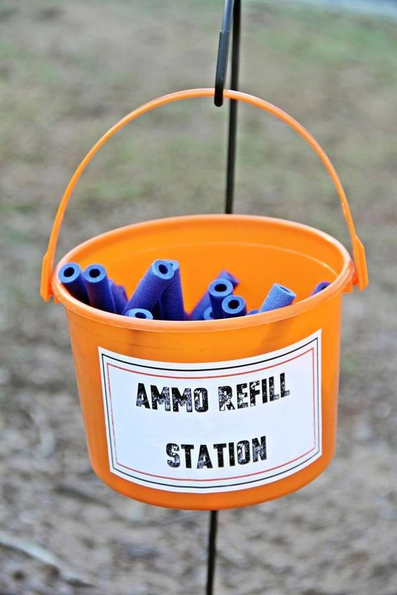 Ammo Refill Station - Nerf Party Ideas