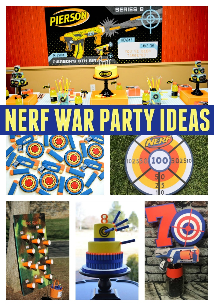 Incredible Nerf Party Ideas on Pretty My Party