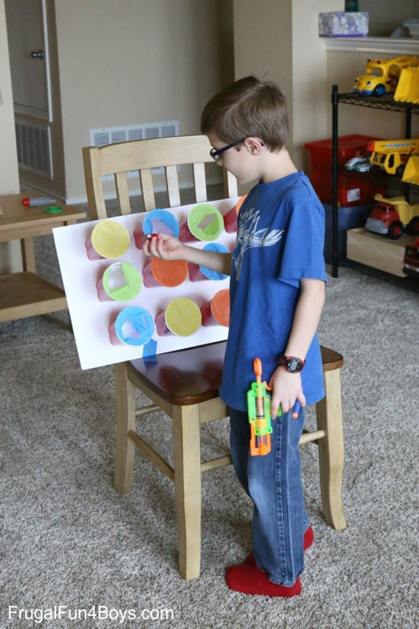 Nerf Target Prize Game - Nerf Party Ideas