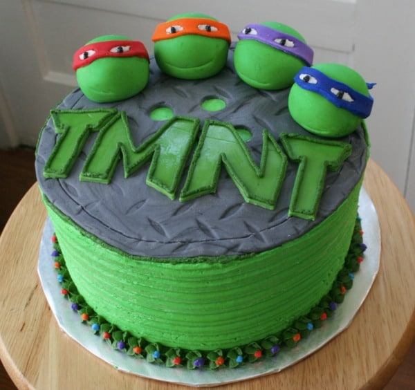 Teenage Mutant Ninja Turtles Birthday Cake - Awesome Cake Ideas For Boys on Pretty My Party