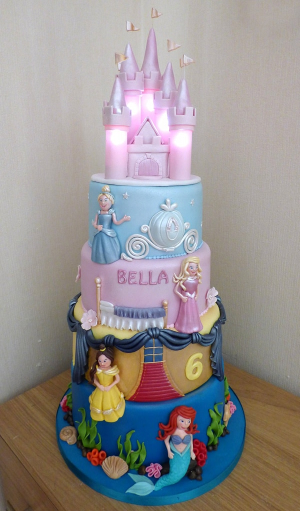 Illuminated Princess Birthday Cake