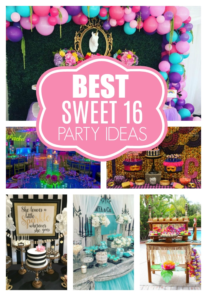 Sweet 16 Party Ideas on Pretty My Party
