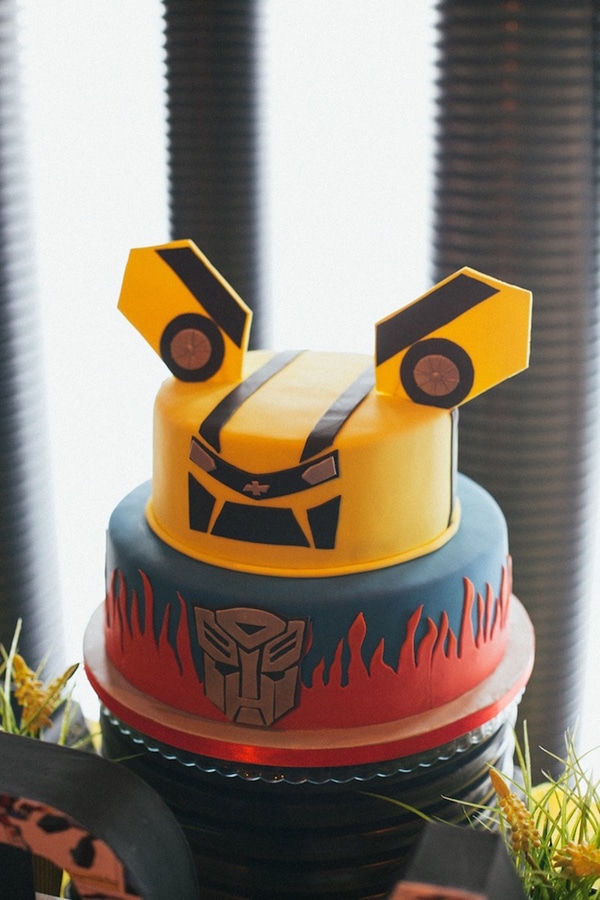 Transformers Cake Idea - Transformers Party Ideas