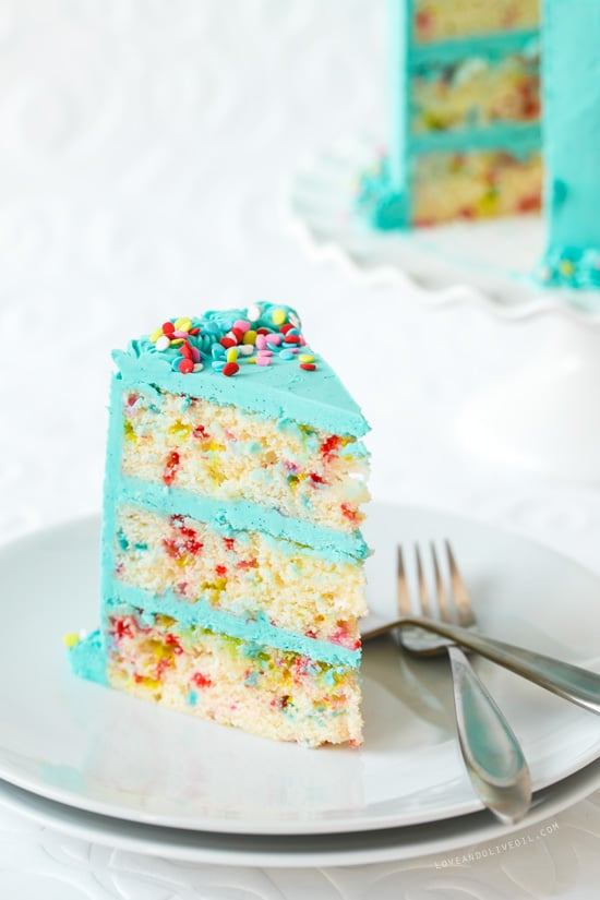Frosted Funfetti Layer Cake - Best Birthday Cake Recipe Ideas