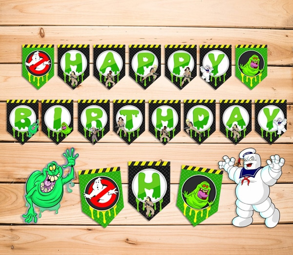 Ghostbusters Birthday Banner - Ghostbusters Party Ideas