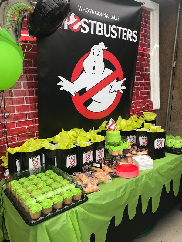 Ghostbusters Party Backdrop Sign
