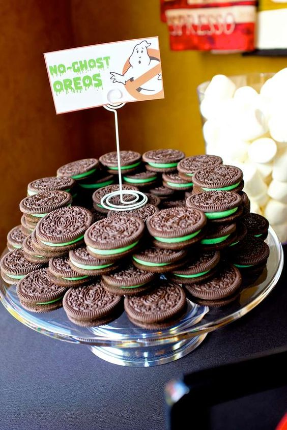No Ghost Oreos - Ghostbusters Party Ideas