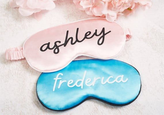 Personalized Sleep Masks - Fun Slumber Party Ideas