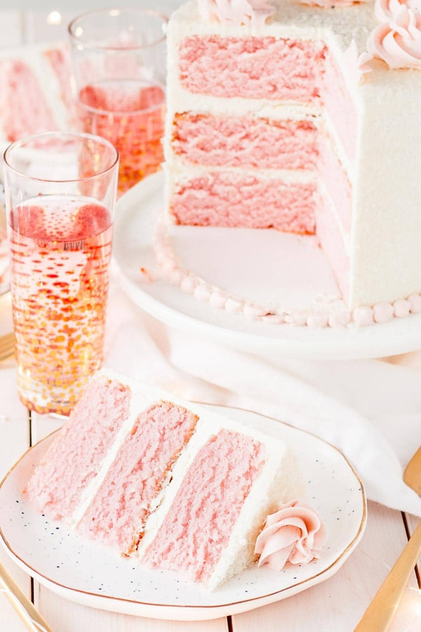 Pink Champagne Cake - Best Birthday Cake Recipe Ideas