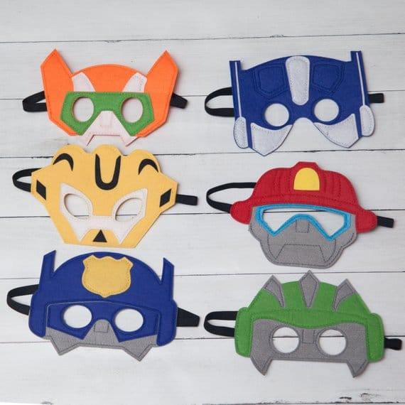 Rescue Bots Transformers Masks - Transformers Party Ideas