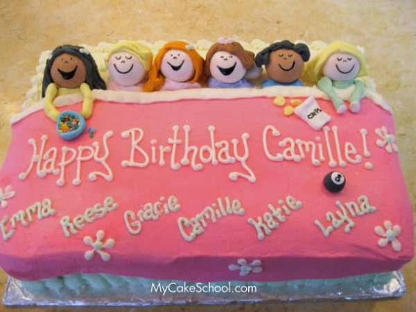 Cool Slumber Party Birthday Cake