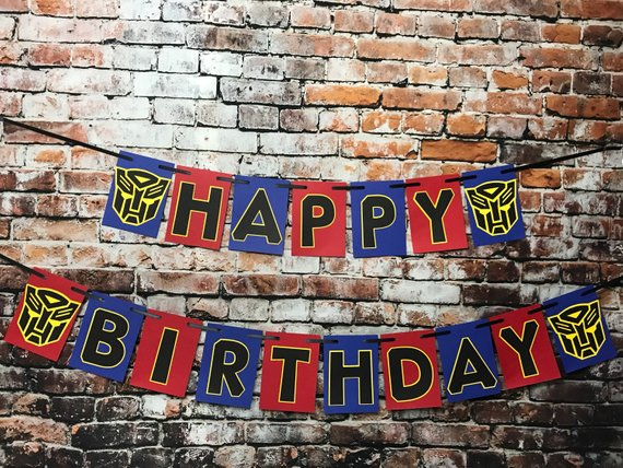 Transformers Birthday Banner - Transformers Party Ideas