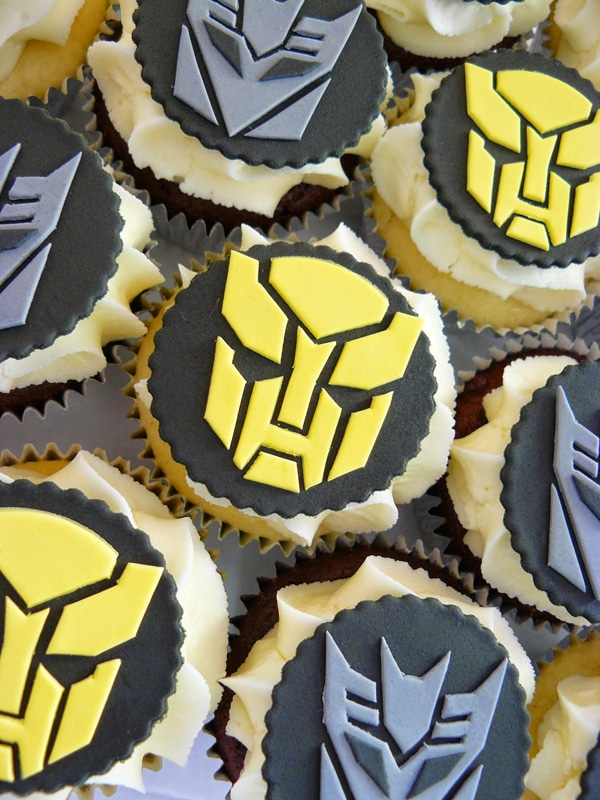 Transformers Cupcakes - Transformers Birthday Party Ideas