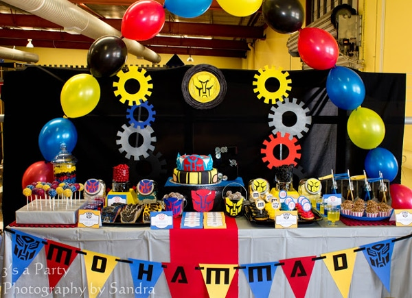 Transformers Party Dessert Table - Transformers Birthday Party Ideas