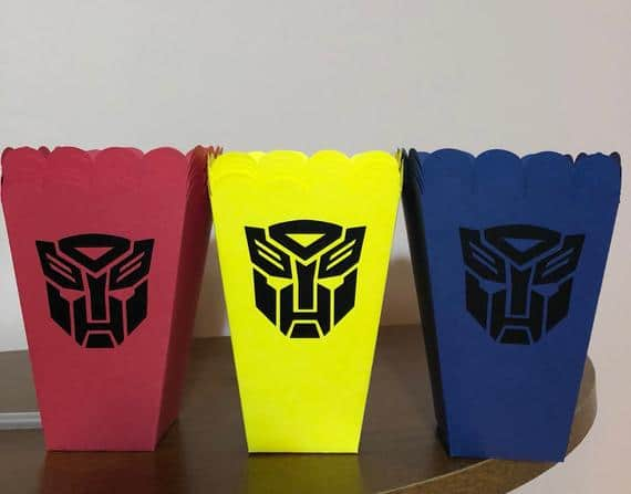 Transformers Snack Boxes - Transformers Party Ideas