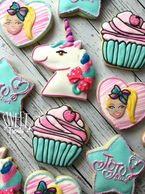 Jo Jo Siwa Cookies - Jo Jo Siwa Birthday Party Ideas