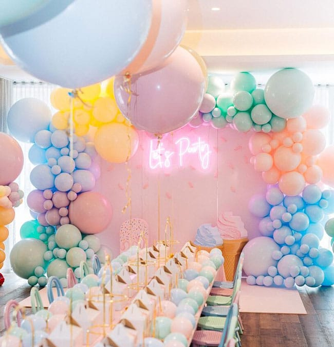 Pretty Pastel Ice Cream Birthday Party Decorations on Pretty My Party
