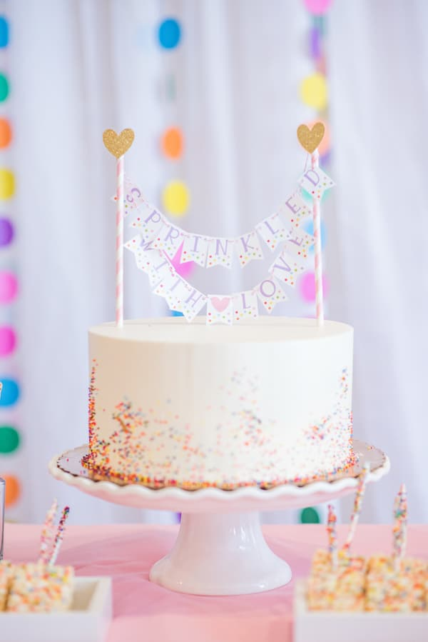 Baby Sprinkle Cake on Pretty My Party