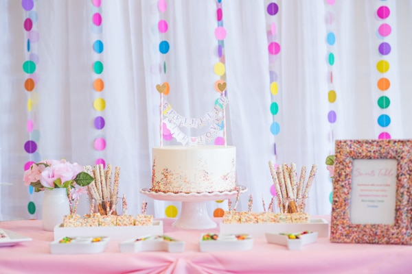 Baby Sprinkle Dessert Table