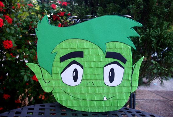 Beast Boy Teen Titans Go PInata - Teen Titans Go Party Ideas