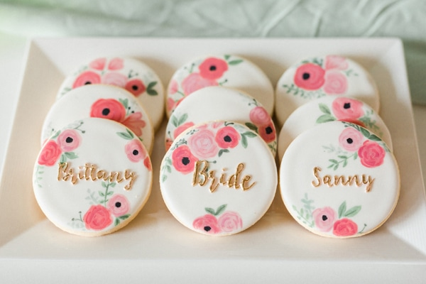 Flower Themed Bridal Shower Cookies