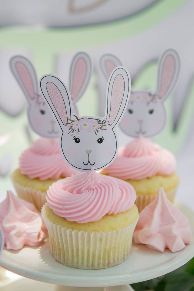 Some Bunny Is One Birthday Cupcakes