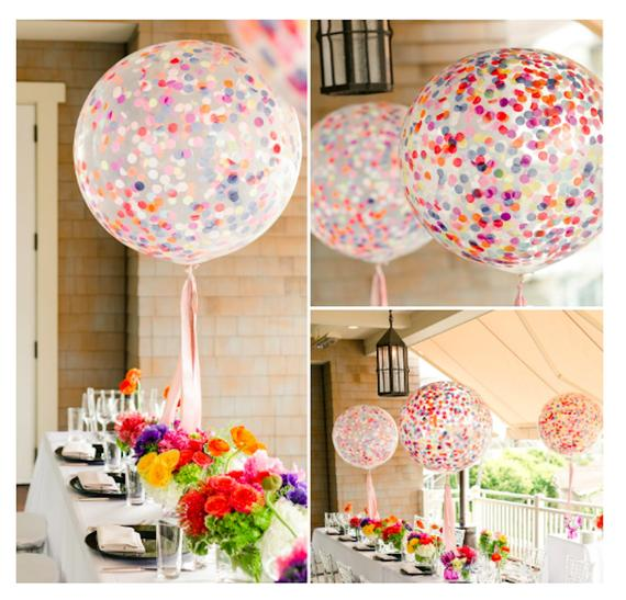 Confetti Balloons - Best Baby Sprinkle Ideas