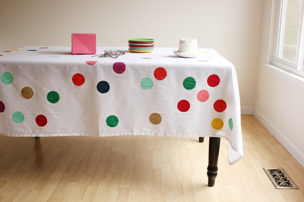 DIY Confetti Tablecloth - Best Baby Sprinkle Ideas
