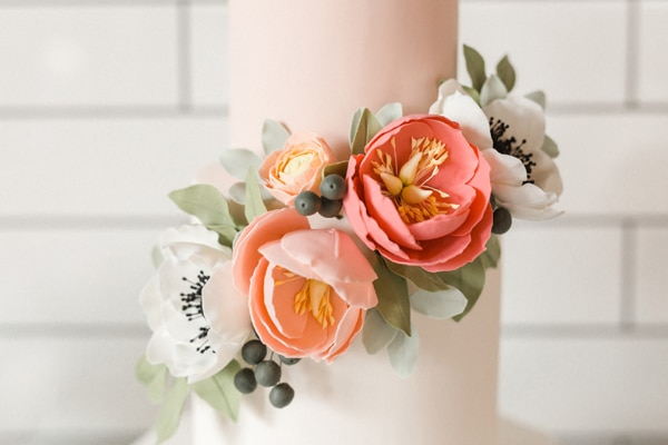 Flower Themed Bridal Shower Cake