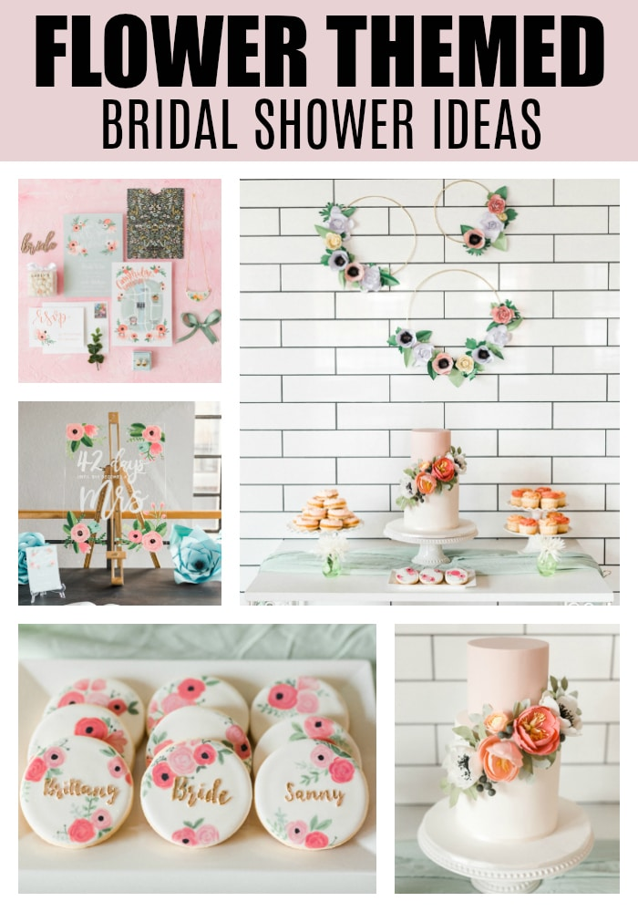 Flower Themed Bridal Shower on Pretty My Party