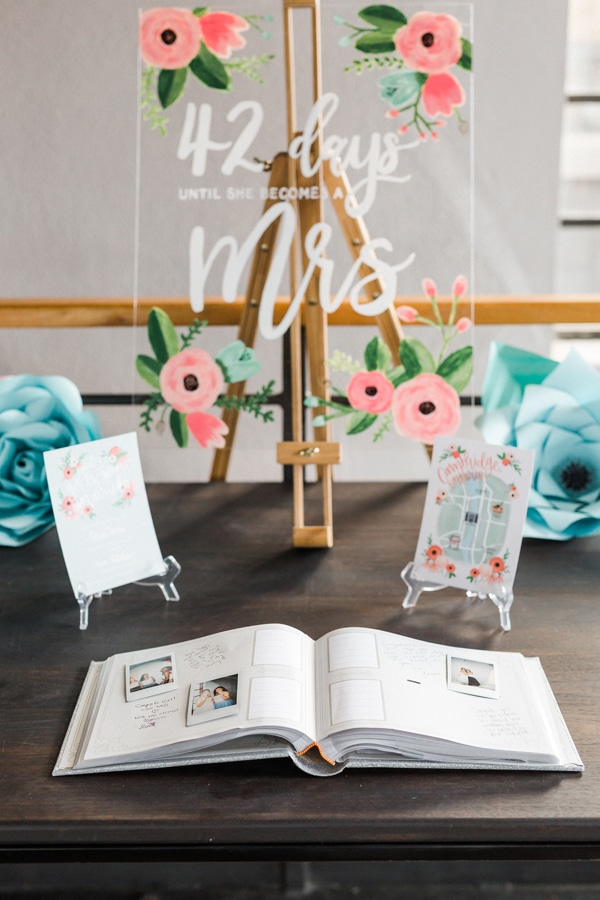 Flower Themed Bridal Shower Sign and Guest Book