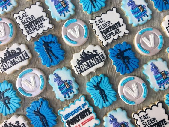Fortnite Cookies - Fortnite Party ideas